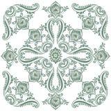 Flora rocznika wzór, dekoracyjny ornamentu motyw Zdjęcie Stock