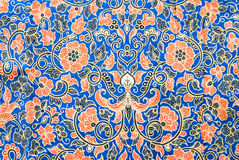 Flora Sarong textur Royaltyfria Bilder
