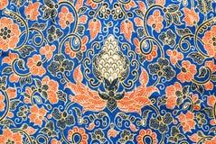 Flora Sarong textur Fotografering för Bildbyråer