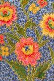 Flora Sarong textur Royaltyfri Fotografi