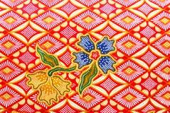 Flora Sarong textur Arkivfoton