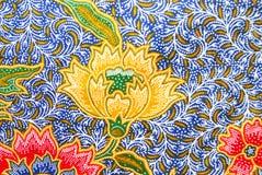 Flora Sarong textur Arkivbild