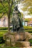 `Flora` sculpture in Cordoaria garden at Porto Royalty Free Stock Photos