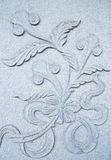 Flora Stone carving Stock Photo