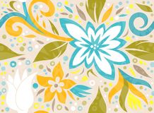 Flora Vetora Pattern sem emenda ilustração stock
