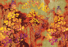 Flora wallpaper. A warm color of flora wallpaper Royalty Free Stock Images
