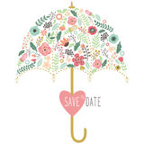 Flora Wedding Umbrella Elements Royalty Free Stock Photo