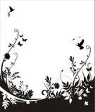 Flora y fondo de la fauna ilustración del vector
