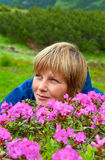 Floraison de rhododendron de montagne Photos libres de droits