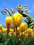 Floraison de tulipe Image stock