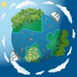 Floraison et planète riche Images libres de droits