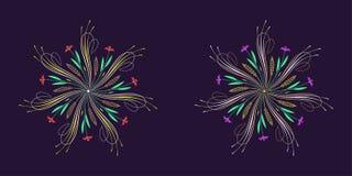 Floral épanouissez-vous l'ornement dans le style calligraphique illustration libre de droits