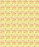 Floral άνευ ραφής σχέδιο ροδάκινων για τις τυπωμένες ύλες υφάσματος διανυσματική απεικόνιση