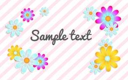 floral κείμενο θέσεων ανασκόπη& ελεύθερη απεικόνιση δικαιώματος
