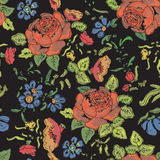 floral άνευ ραφής ανασκόπησης οι ανθοδέσμες υποκύπτουν άνευ ραφής μικρό προτύπων λουλουδιών αριθμού Στοκ Εικόνα