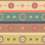 Όμορφο εκλεκτής ποιότητας άνευ ραφής floral υπόβαθρο Στοκ Εικόνες