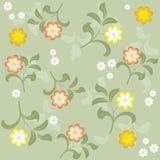 floral άνευ ραφής διάνυσμα ανασ& Στοκ Φωτογραφία