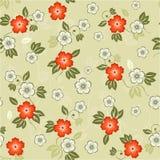 floral άνευ ραφής διάνυσμα ανασ& Στοκ Φωτογραφίες