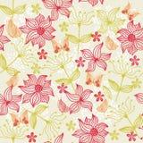 floral άνευ ραφής διάνυσμα πετα Στοκ Εικόνες