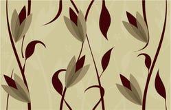 floral άνευ ραφής διάνυσμα σχε&delt Στοκ Εικόνα