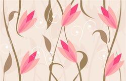 floral άνευ ραφής διάνυσμα σχε&delt Στοκ φωτογραφία με δικαίωμα ελεύθερης χρήσης