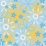 Floral άνευ ραφής διακόσμηση με τα λουλούδια στοκ εικόνα με δικαίωμα ελεύθερης χρήσης