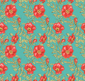Floral άνευ ραφής εκλεκτής ποιότητας σχέδιο 2 Στοκ Εικόνες