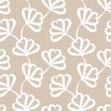floral άνευ ραφής λευκό προτύπω&n Στοκ εικόνα με δικαίωμα ελεύθερης χρήσης