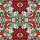 floral άνευ ραφής διάνυσμα προτύ& Στοκ Εικόνα