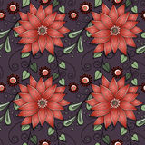 floral άνευ ραφής διάνυσμα προτύ& Στοκ εικόνα με δικαίωμα ελεύθερης χρήσης