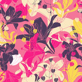 floral άνευ ραφής διάνυσμα προτύ&p Στοκ Φωτογραφία