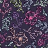 floral άνευ ραφής διάνυσμα προτύ&p Στοκ Φωτογραφίες