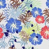 floral άνευ ραφής διανυσματική ταπετσαρία προτύπων Για το εύκολο κάνοντας άνευ ραφής σχέδιο να συρει ακριβώς όλη την ομάδα swatch Στοκ Φωτογραφία