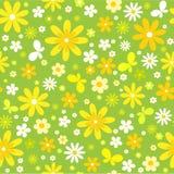 floral άνευ ραφής πεταλούδων ανασκόπησης Στοκ φωτογραφία με δικαίωμα ελεύθερης χρήσης