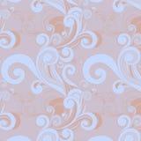 Floral άνευ ραφής πρότυπο με τους στροβίλους Στοκ Εικόνα