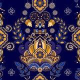 Floral άνευ ραφής πρότυπο του Paisley Στοκ εικόνες με δικαίωμα ελεύθερης χρήσης