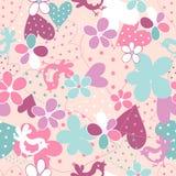 Floral άνευ ραφής πρότυπο φαντασίας απεικόνιση αποθεμάτων