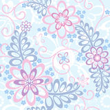 Floral άνευ ραφής πρότυπο Στοκ Εικόνα