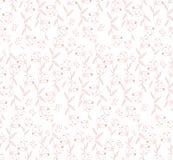 Floral άνευ ραφής σχέδιο για το σχέδιο υφάσματος και χαρτικών διανυσματική απεικόνιση