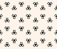 Floral άνευ ραφής σχέδιο με τους απλούς γεωμετρικούς αριθμούς, τρίγωνα Στοκ εικόνα με δικαίωμα ελεύθερης χρήσης