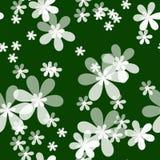 Floral άνευ ραφής σχέδιο με το υπόβαθρο λουλουδιών Στοκ Εικόνες