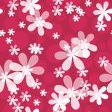 Floral άνευ ραφής σχέδιο με το υπόβαθρο λουλουδιών Στοκ Εικόνα