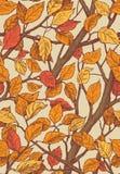 Floral άνευ ραφής σχέδιο διακοσμήσεων με τα φύλλα και τα brances Στοκ Φωτογραφία