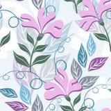 Floral άνευ ραφής σχέδιο. Λουλούδια φαντασίας. Στοκ φωτογραφία με δικαίωμα ελεύθερης χρήσης