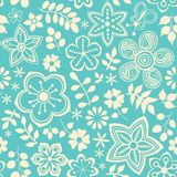 Floral άνευ ραφής σχέδιο με τα λουλούδια. Στοκ φωτογραφίες με δικαίωμα ελεύθερης χρήσης