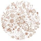 Floral άνευ ραφής σχέδιο με τα λουλούδια Στοκ Φωτογραφίες