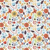 Floral άνευ ραφής σχέδιο με τα λουλούδια doodle Στοκ φωτογραφίες με δικαίωμα ελεύθερης χρήσης