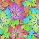 Floral άνευ ραφής σχέδιο με τα τρισδιάστατα λουλούδια Στοκ εικόνα με δικαίωμα ελεύθερης χρήσης