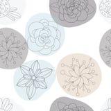 Floral άνευ ραφής σχέδιο λουλουδιών, υπόβαθρο Στοκ φωτογραφίες με δικαίωμα ελεύθερης χρήσης