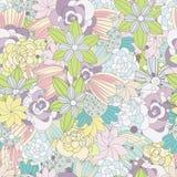 Floral άνευ ραφής σχέδιο λουλουδιών, υπόβαθρο Στοκ Εικόνες